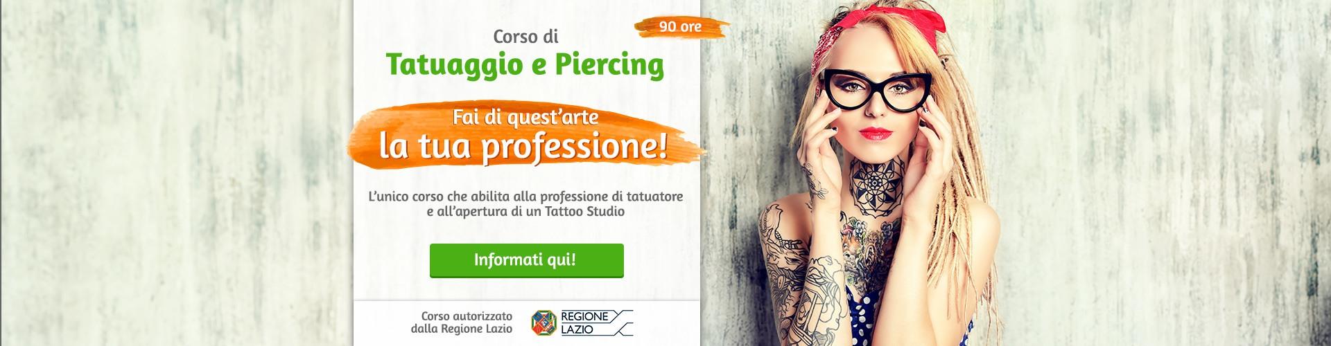 Corso di tatuaggio e piercing