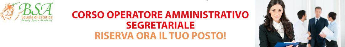 Corso Operatore Amministrativo-Segretariale (300 ore)